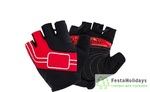 Перчатки Naturehike NH Half Finger Cycling Gloves красный