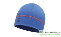 Шапка Buff Merino Wool 1 Layer Hat Solid Blue ink