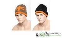 Шапка Norfin Discovery болотный/оранжевый/черный