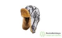Шапка-ушанка Huntsman Евро (Волк) Белка/Белый лес