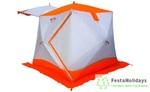 Палатка всесезонная Пингвин Призма Шелтерс (1-сл.) бело/оранжевый