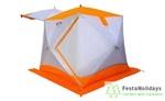 Палатка всесезонная Пингвин Призма Шелтерс Премиум (1-сл.) бело/оранжевый
