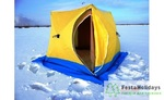 Палатка для зимней рыбалки Стэк Куб-3 двухслойная