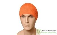 Шапка NordKapp трикотажная с флисом orange