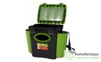 Ящик зимний Helios FishBox односекционный 10 л зеленый