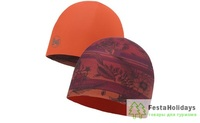 Шапка Buff Microfiber Reversible Hat Bess Wine/Terracotta