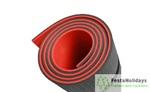 Коврик Isolon Sport 10 двухцветный красный/черный