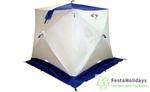 Палатка для зимней рыбалки Пингвин Призма Brand New (2-сл) Бело-синий