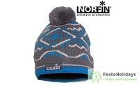 Шапка женская Norfin Norway серый/синий