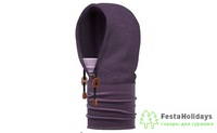 Капюшон Buff Hoodie Polar Thermal Purple Pennant