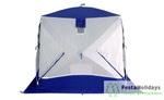Палатка для зимней рыбалки Пингвин Призма (1-сл) B95T1 бело/синий
