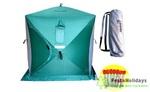 Палатка для зимней рыбалки Helios КУБ 1.5х1.5м 3 Зеленых/2 серых